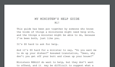 Thumbnail image of My Minister's Help Guide